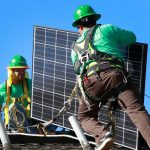 SolarCity, a leading installer of solar-power systems in the United States, received a low investment-grade rating for the bonds, which will help finance its rapid expansion.