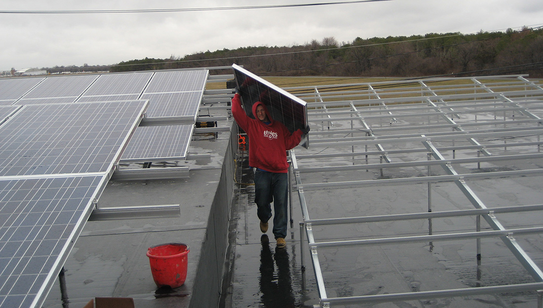 Commercial Solar Being Installed